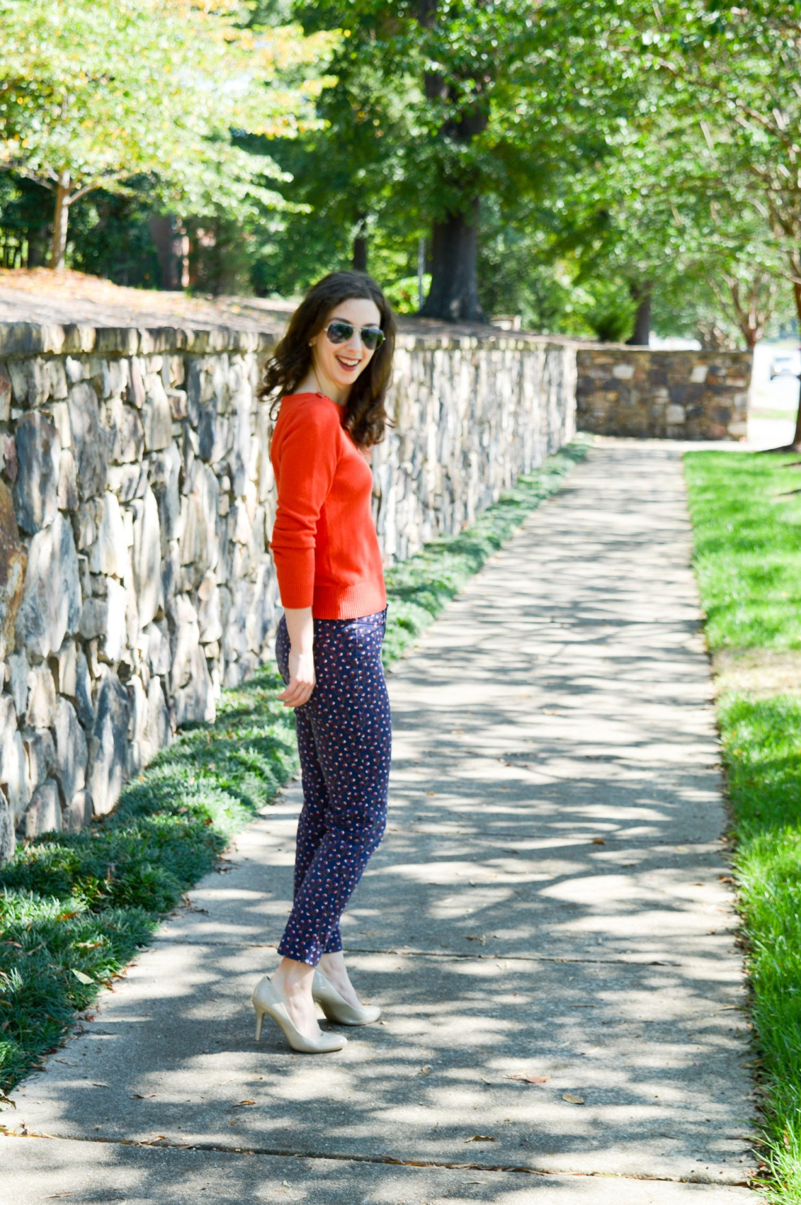 Ray Ban aviators with business casual