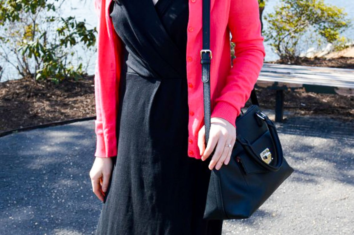 Old Navy black wrap dress