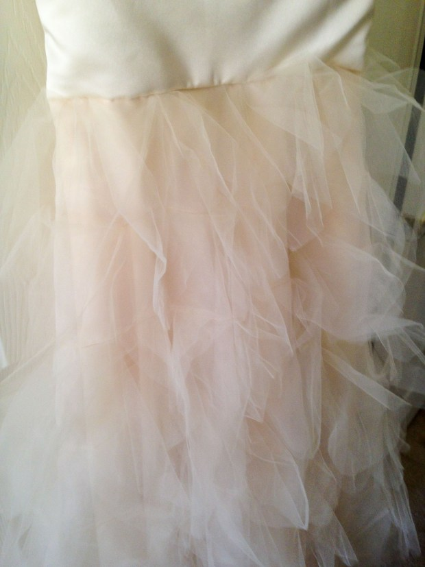 It's all in the details: Petal skirt made of tulle
