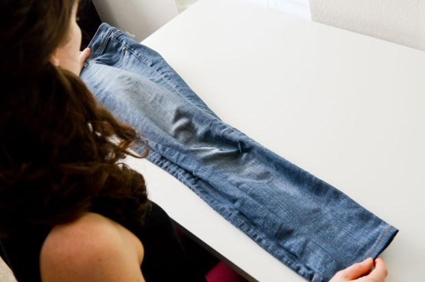 Making your own raw hem jeans