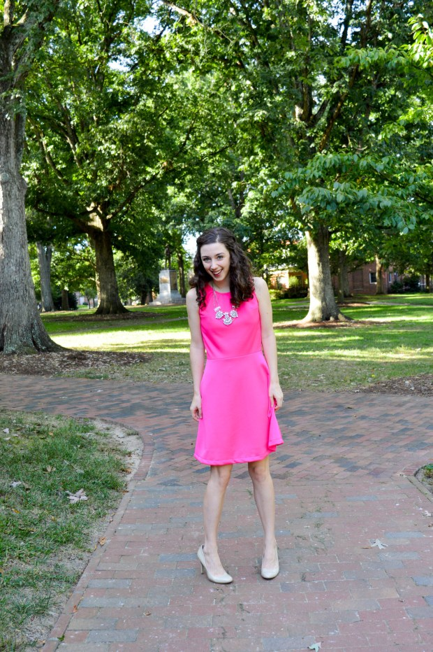 The perfect pink dress - wear it to work or date night!