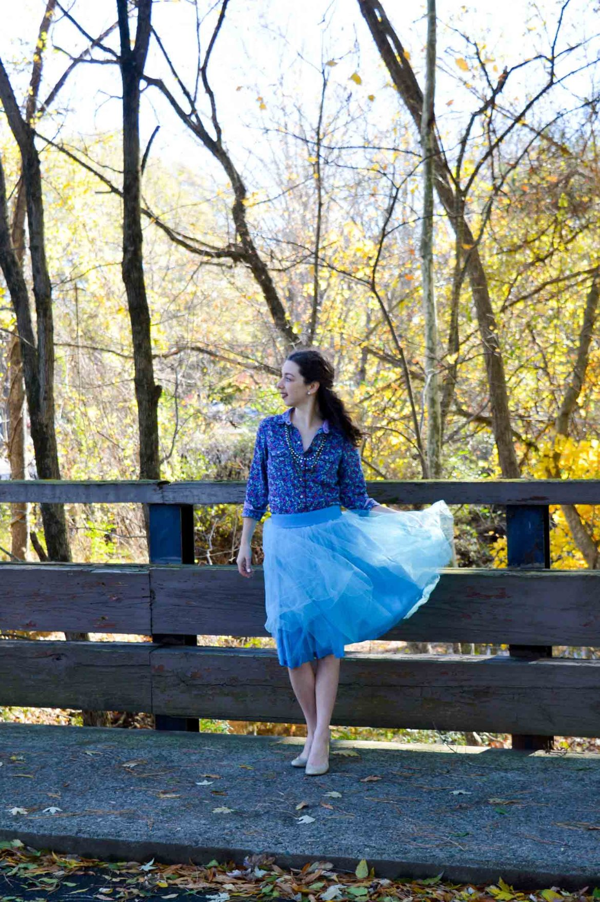 Blue tulle skirt // Winter party outfit ideas // Hunting for Pink Flamingos