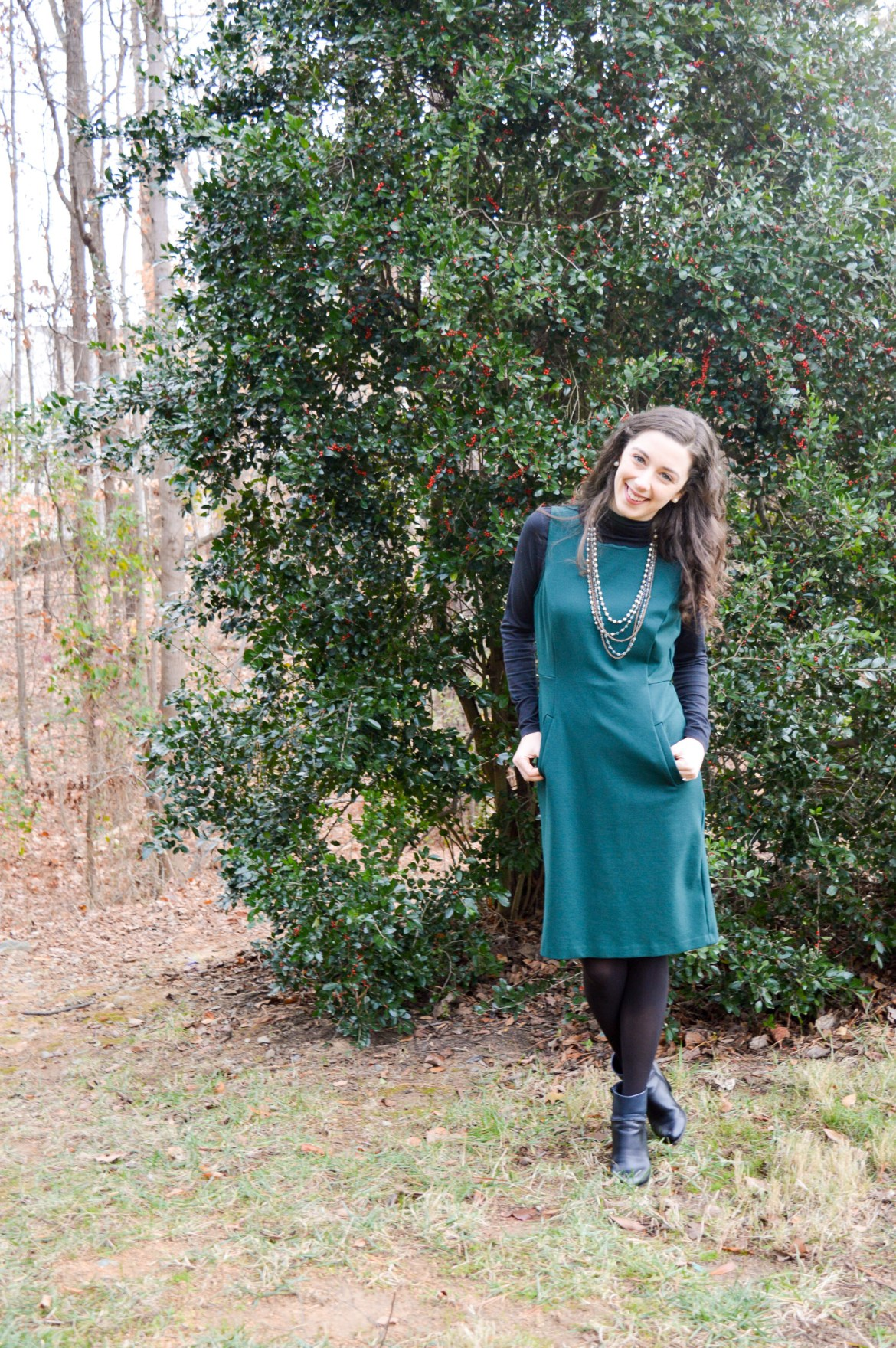 Black Booties // Winter Outfit Ideas // Hunting for Pink Flamingos