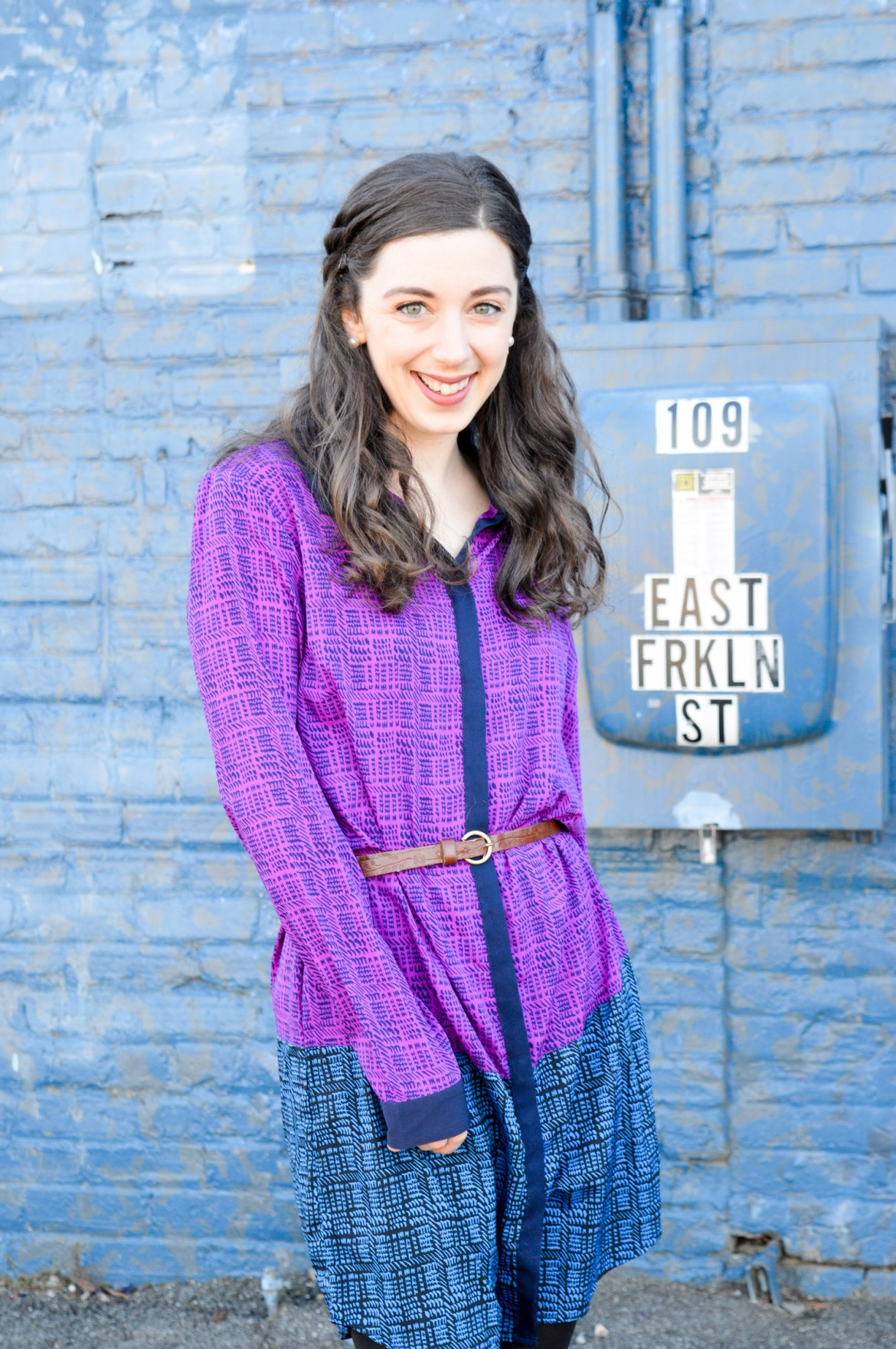 Purple + Blue Colorblocking // The shirtdress I wear over and over again