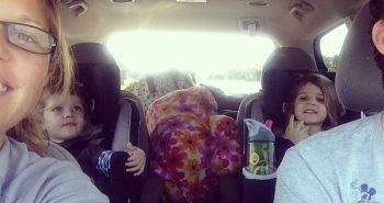 Traveling in the car with family