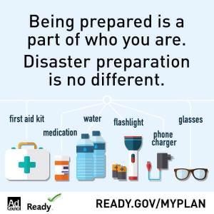 Emergency preparedness for a hurricane.