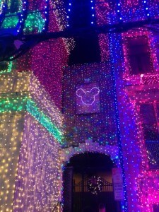 Hidden Mickey at Osborne Family Spectacle of Dancing Lights.