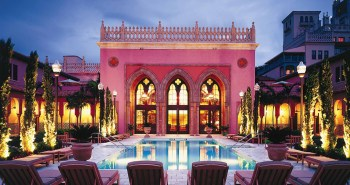 Outdoor Pool at the Boca Raton Resort & Club. A great destination for a romantic getaway in Florida.