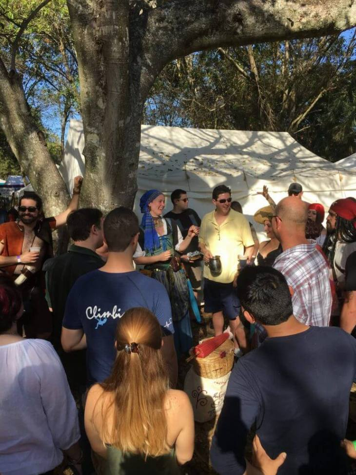 Pub Crawlers having a great time at the Florida Renaissance Festival.