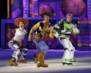 Woody and the gang from Toy Story at Disney on Ice presents World of Enchantment at the BB&T Center in Sunrise, Florida.