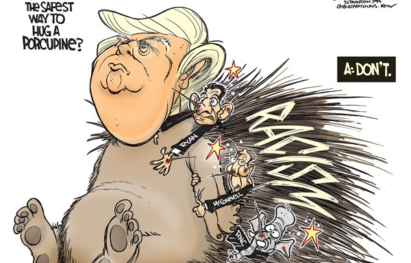 trump-racism-porcupine-cartoon