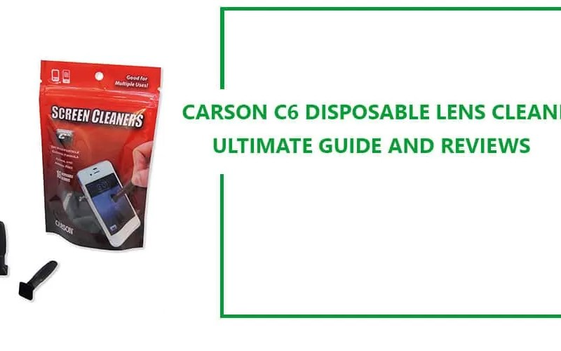 Carson C6 Disposable Lens Cleaner with Nano-Particle Cleaning  Guide
