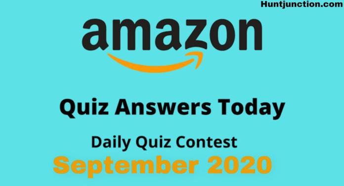 Amazon Daily Quiz Answers Play & Win Amazon Pay Balance [September]