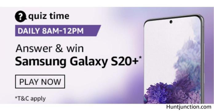 Amazon Daily Quiz & Win Samsung Galaxy S20+ [26th Sep 2020]