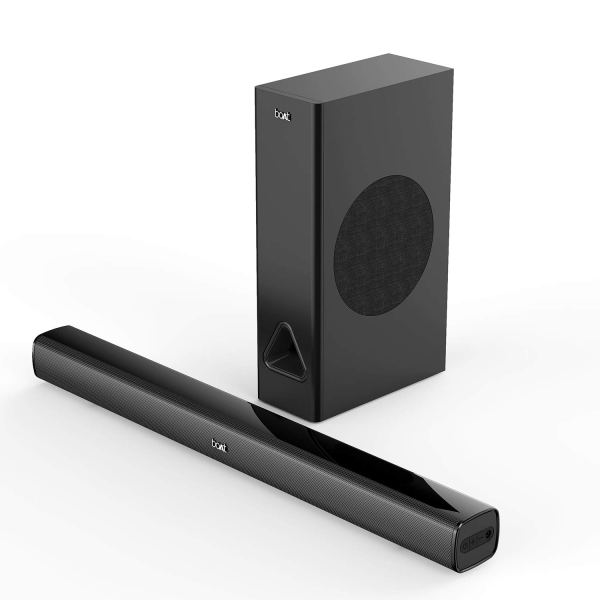 boAt AAVANTE Bar 1250 80W 2.1 Channel Bluetooth Soundbar with boAt Signature Sound, Wired Subwoofer, Bluetooth v5.0, Multiple Connectivity Modes, Entertainment Modes and Premium Finish