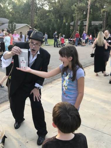 2018 HHNA Street Party. We had a magician!