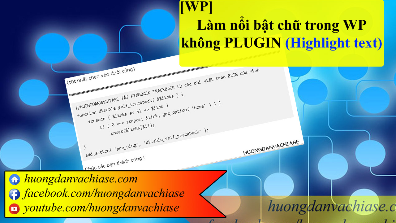 Highlight text trong wordpress