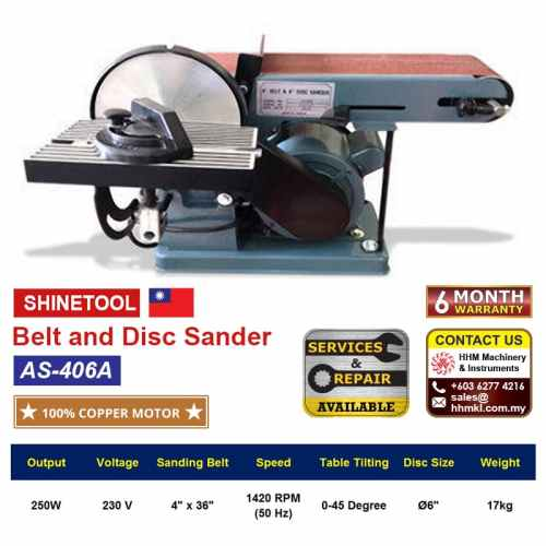 AS-406A Belt and Disc Sander