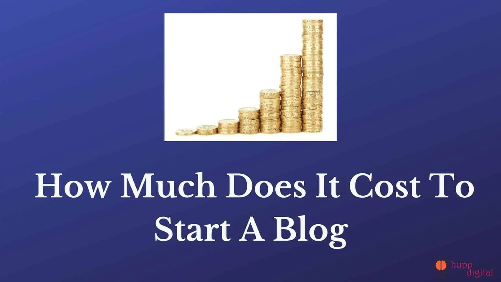how much does it cost to start a blog.