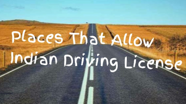 places that allow indian driving license