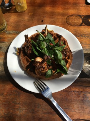 Chicken and Thai Basil Waffles