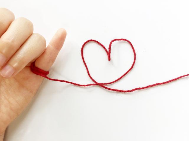 赤い糸のイメージ