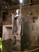 Salt-Made Sculpture of Pope John III at Wieliczka Salt Mine Cathedral