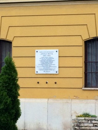 Angelo Rotta Memorial Plaque