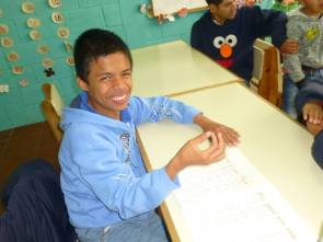Here is an example of some of the great work being done at The Neurological Center. Alejandro is an intelligent young man with cerebral palsy. With the help of his special education teachers, Alejandro is making excellent progress with his reading and writing skills.