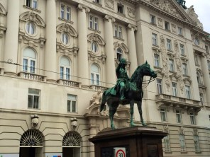 Former Ministry of Defense with Commemorative Statue of Franz Josef