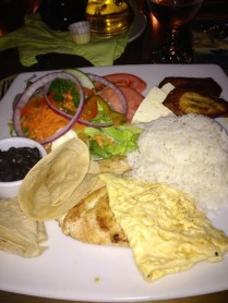 Traditional Costa Rican Dinner