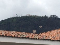 View of Monserrate from Museo Botero