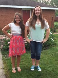 Allyse, 6th grade, Renton. Averey, 9th.