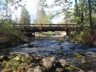 After- a beautiful timber bridge