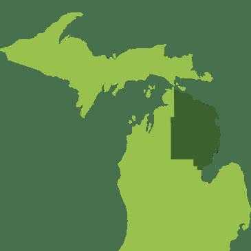 Service Area Map Michigan