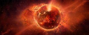Maailmanloppu apokalypsi avaruus räjähdys