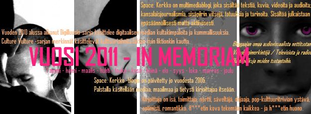 Vuosi 2011 – In Memoriam