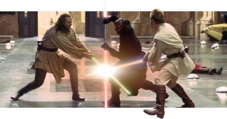 Qui-Gon Darth Maul Obi-Wan