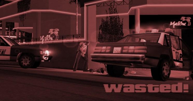 GTA 3 gameplay wasted klassikkopeli