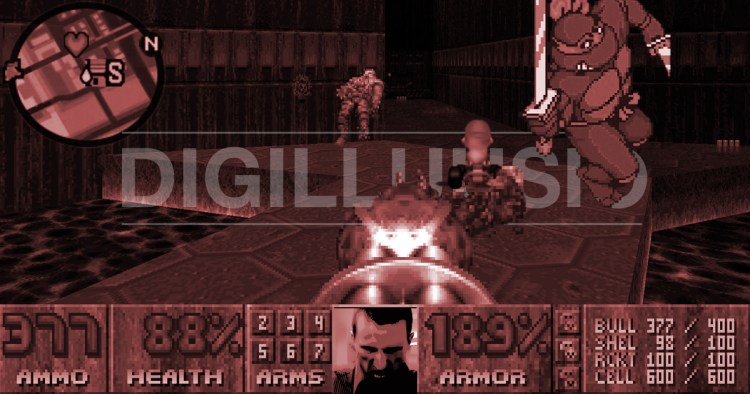 HurraaKerkko Digilluusio Doom videopelit retro