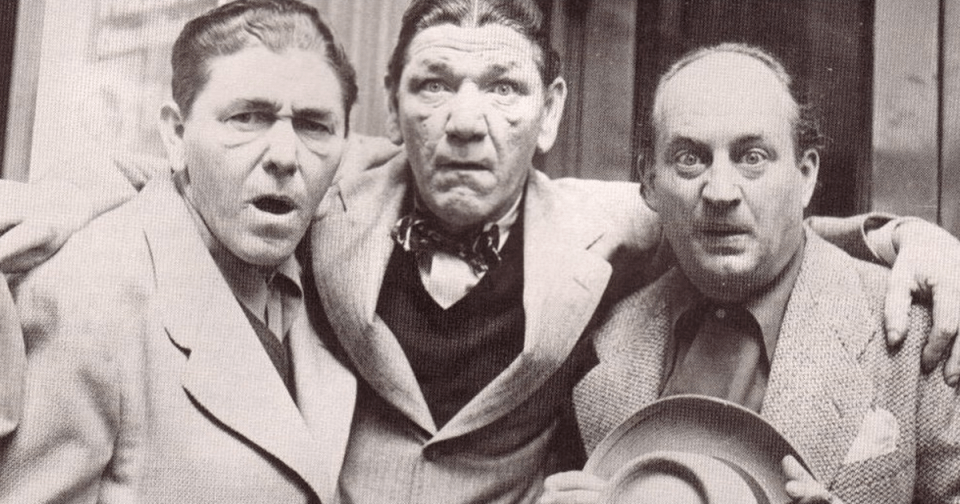 Moe Howard (vas.), Shemp Howard ja Larry Fine.