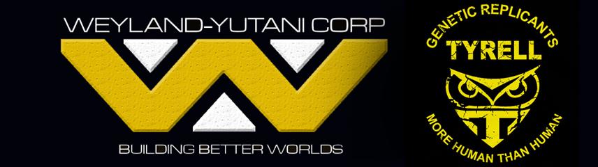 Weyland-Yutani Tyrell logo Ridley Scott