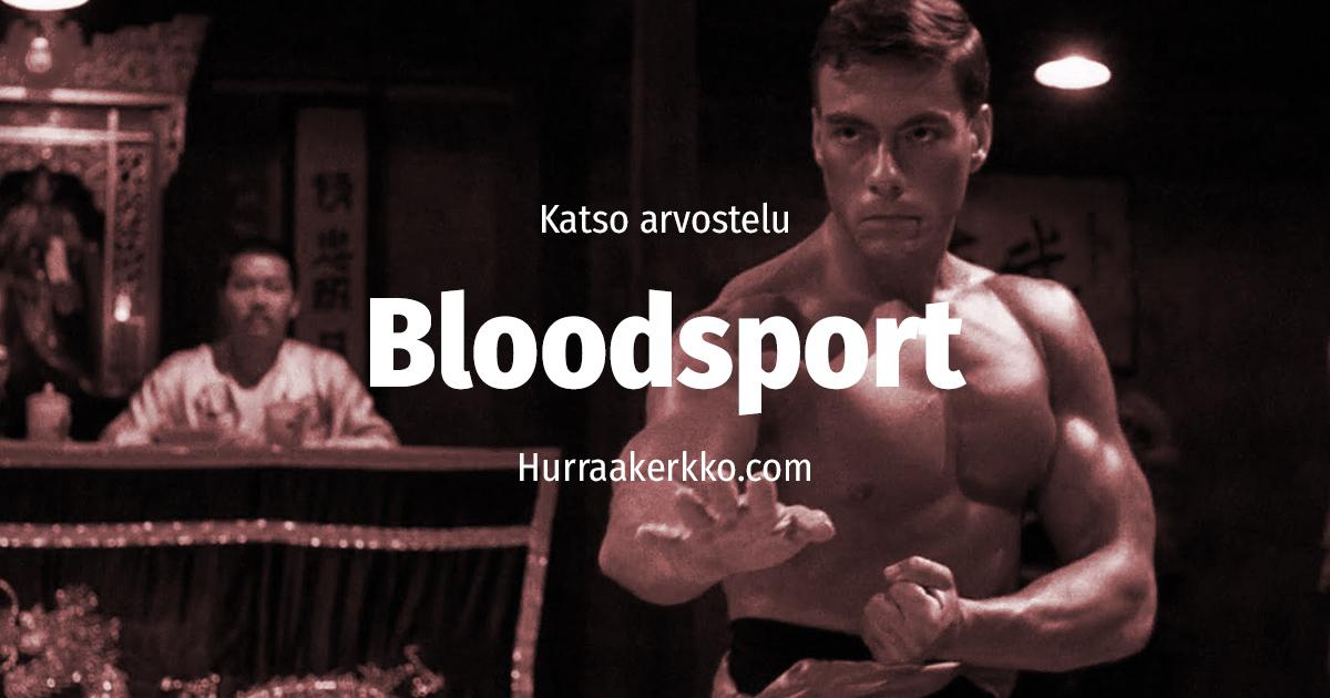 Bloodsport arvostelu Van Damme