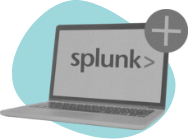 splunk logo on laptop