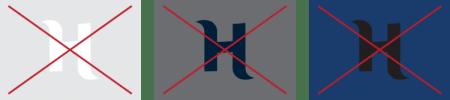 Unacceptable logo colors