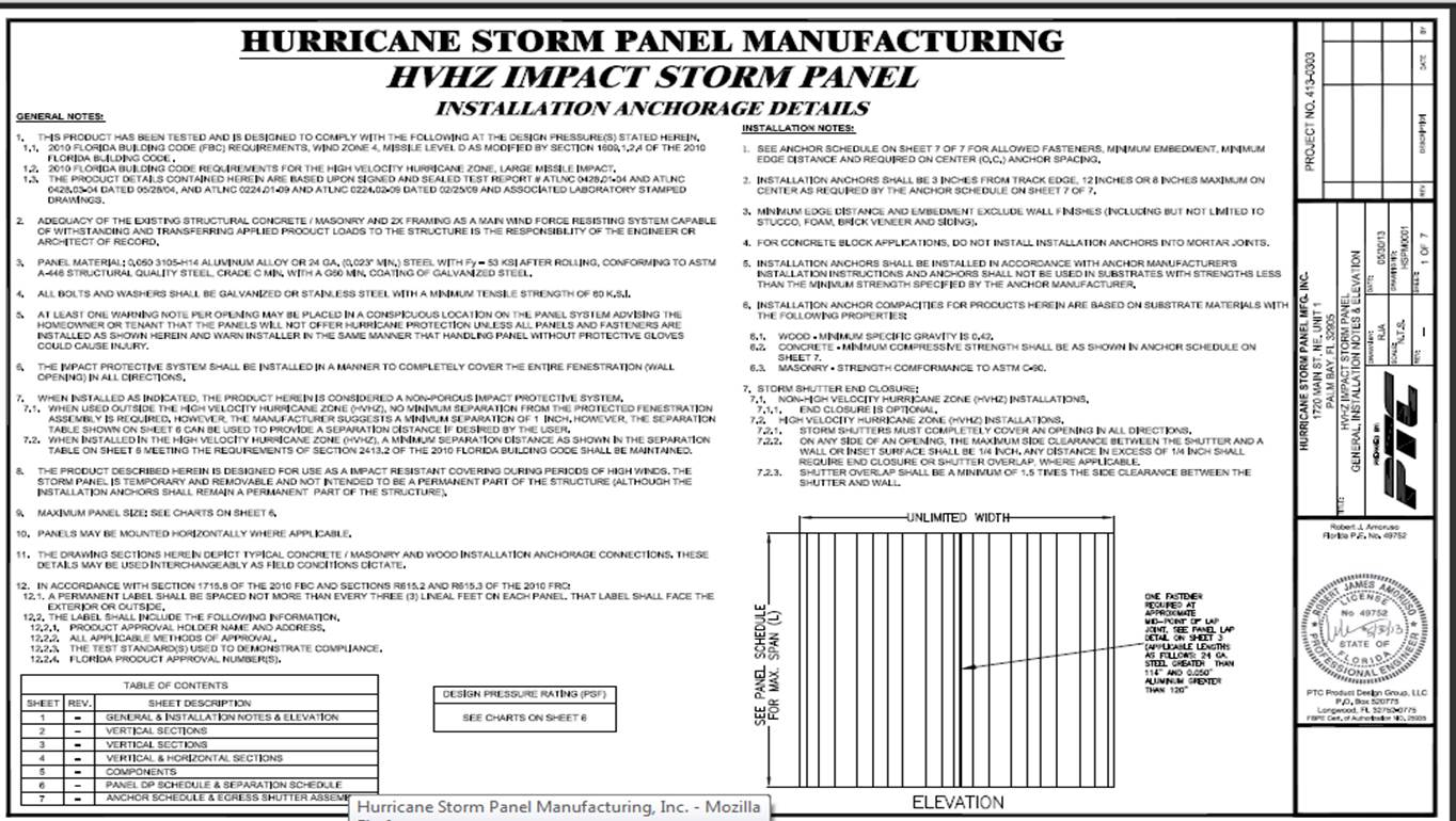 Florida Building Code Hurricane Shutters