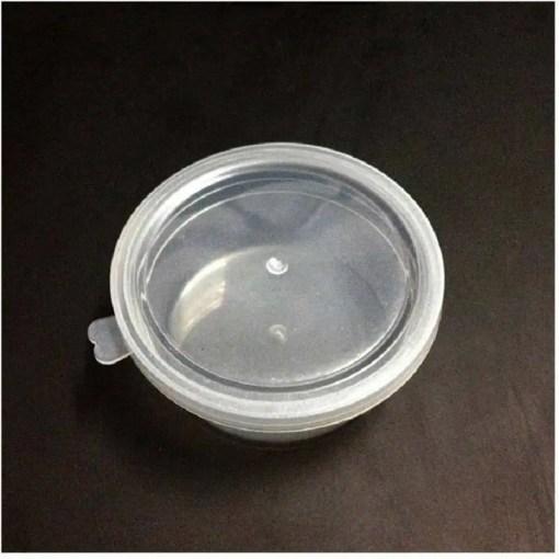 111450-10 Plastburkar & Pastellfärgade Styrolitkulor - Foam Beads 7-pack