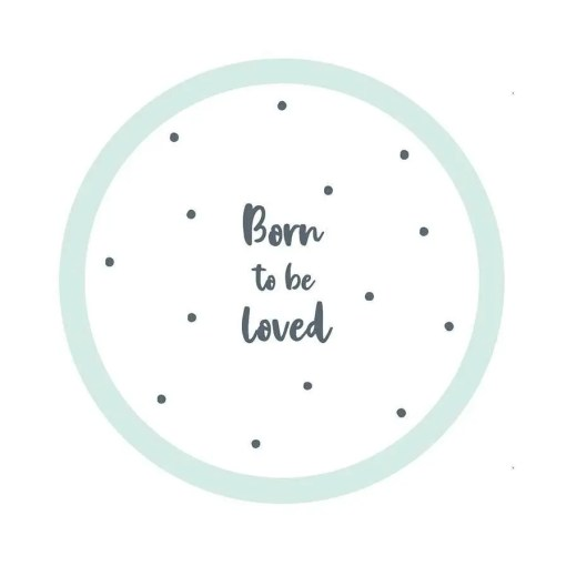 111689-1 Papperstallrikar - Born To Be Loved
