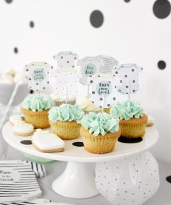 Canapéflaggor Body - Baby Shower Born To Be Loved