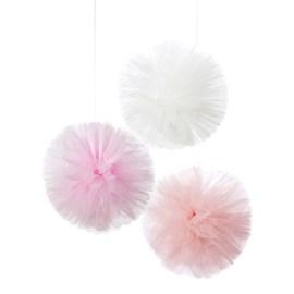 Rosa Tyll Pom Pom - We Heart Pink